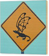 Dragon Crossing Wood Print