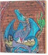 Dragon Family Wood Print