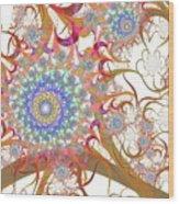 Dragon Flowers. Wood Print
