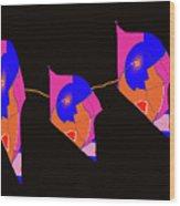 Dragon Flyers Wood Print
