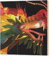 Dragon Head Wood Print