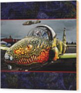 Dragon Jet Wood Print