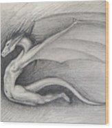 Dragon Man Wood Print