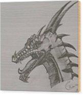 Dragon O King Wood Print