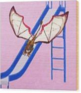 Dragon On Slide Wood Print