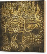 Dragon Pattern Wood Print by Setsiri Silapasuwanchai