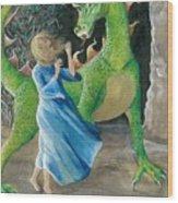 Dragon Princess 2 Wood Print