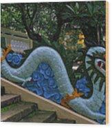 Bao Tang Temple Railing In Ho Chi Minh City Wood Print