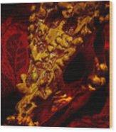 Dragon Skull Wood Print