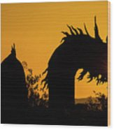 Dragon Sunrise 1 Wood Print