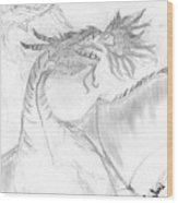 Dragon V. Wood Print