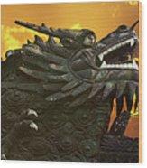 Dragon Wall - Yu Garden Shanghai Wood Print by Christine Till