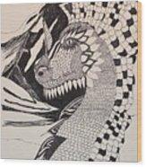 Dragon - Zentangle 16-04 Wood Print
