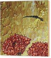 Dragonfly At Dawn Wood Print
