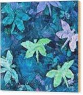 Dragonfly Blues Wood Print