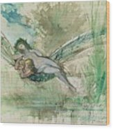 Dragonfly Wood Print by Gustave Moreau