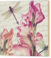 Dragonfly Morning II Wood Print