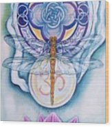 Dragonfly Spirit Wood Print by Diana Shively