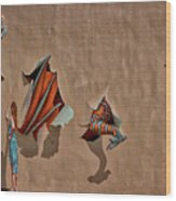 Dragons In The Railyard - Santa Fe #2 Wood Print