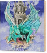 Dragons Keep By Spano Wood Print