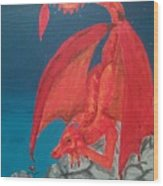 Dragons Love Wood Print