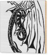 Dragons Orb Wood Print