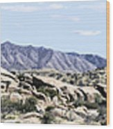Dragoon Mountains Panorama Wood Print