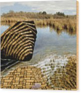 Drain - Mendon Ponds Wood Print