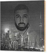 Drake 6 God Wood Print