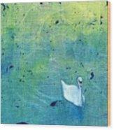 Drake Park Swan Wood Print