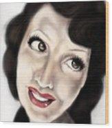 Drama Girl Wood Print
