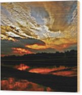 Drama In The Sky At The Sunset Hour Wood Print