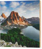 Drama Of The Canadian Rockies 3 Wood Print