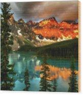 Drama Of The Canadian Rockies Wood Print