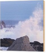 Drama Of The Rocky Shore Wood Print