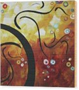 Drama Unleashed 1 Wood Print by Megan Duncanson