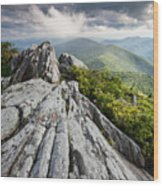 Dramatic Blue Ridge Mountain Scenic Wood Print