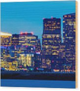 Dramatic Boston Skyline  Wood Print