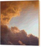 Dramatic Cloud Painting Wood Print