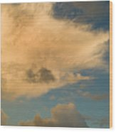 Dramatic Clouds In The Sky Resting Wood Print