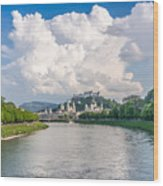 Dramatic Clouds Over Salzburg Wood Print