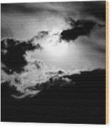 Dramatic Clouds Wood Print