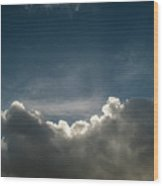 Dramatic Cloudy Sky Wood Print