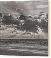 Dramatic Dutch Coast Wood Print