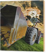 Dramatic Loader Wood Print by Meirion Matthias