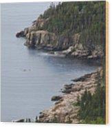 Dramatic Maine Coastline Wood Print