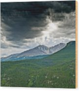 Dramatic Skies In Rocky Mountain National Park Colorado Wood Print
