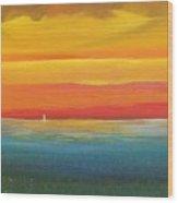 Dramatic Sky Beach Wood Print