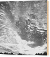 Dramatic Sky Bw Wood Print