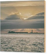 Dramatic Sky Over Hurst Castle Wood Print
